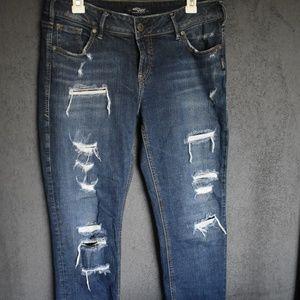 Suki Skinny Silver Jeans
